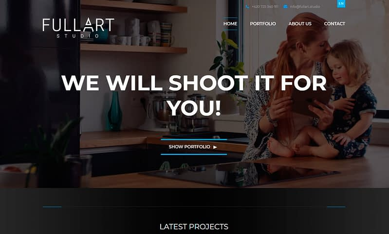 webdesign of fullart website