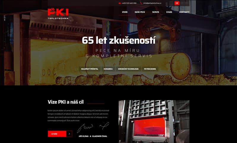 webdesign of PKI website