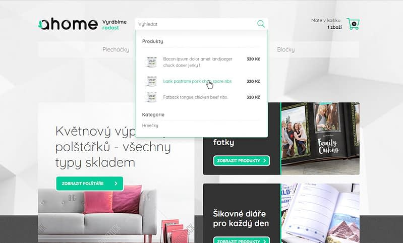 webdesign of ahome website